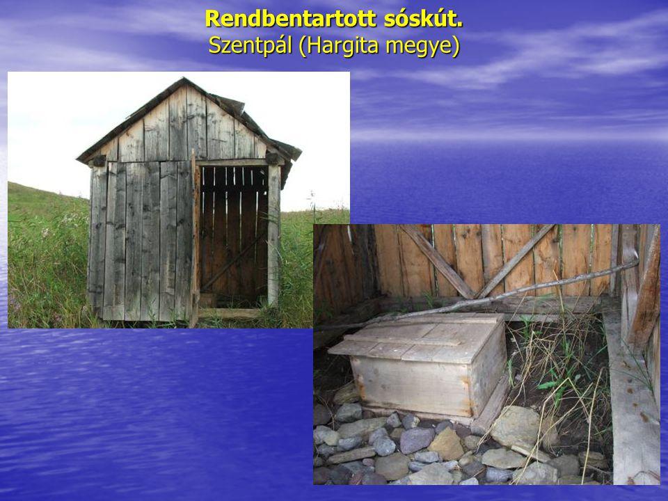 Rendbentartott sóskút. Szentpál (Hargita megye)
