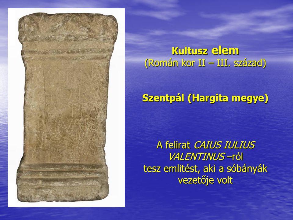Kultusz elem (Román kor II – III