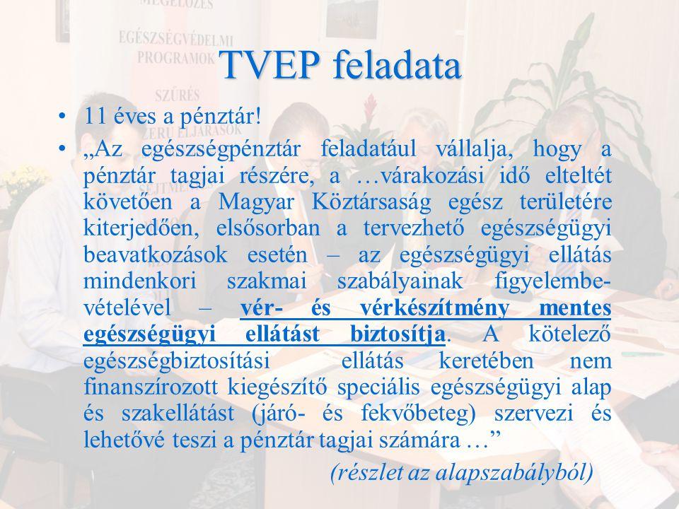 TVEP feladata 11 éves a pénztár!