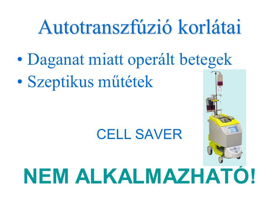 Autotranszfúzió korlátai