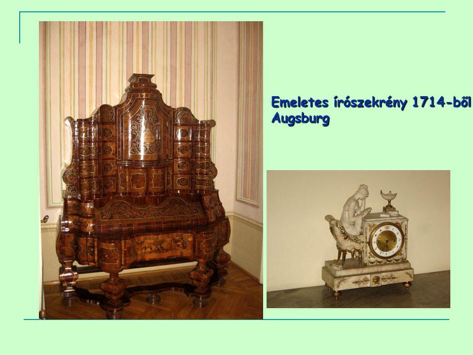 Emeletes írószekrény 1714-ből Augsburg