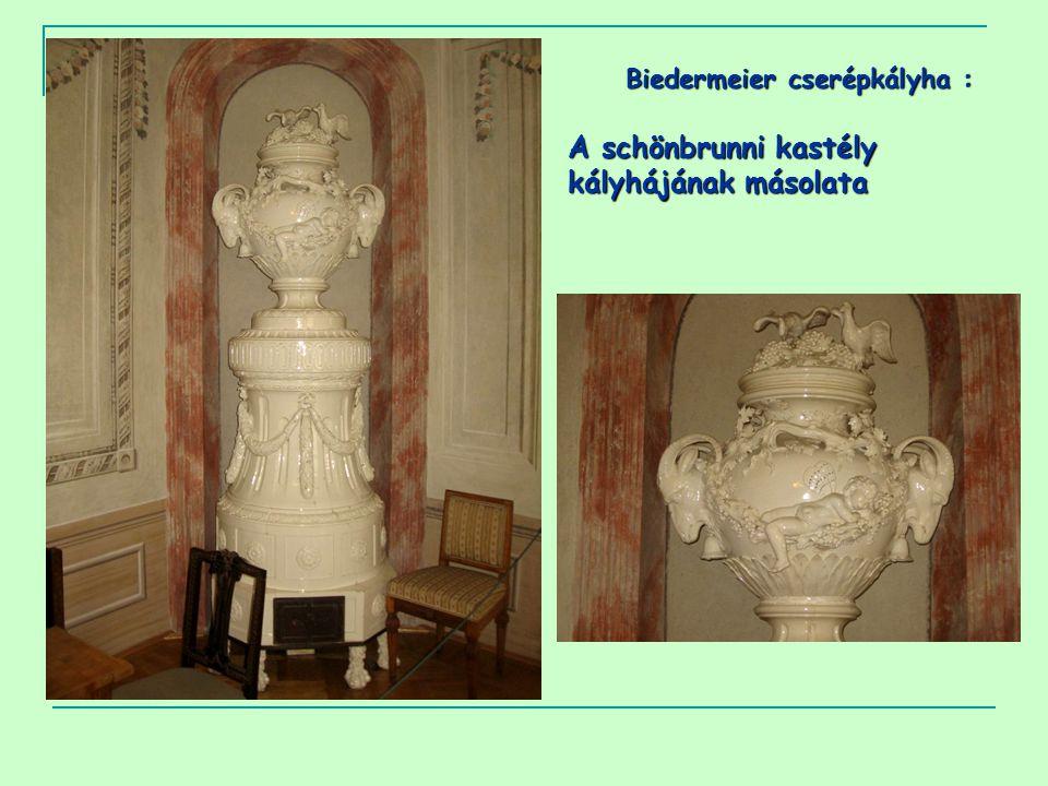 Biedermeier cserépkályha : A schönbrunni kastély kályhájának másolata