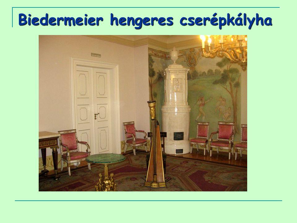 Biedermeier hengeres cserépkályha