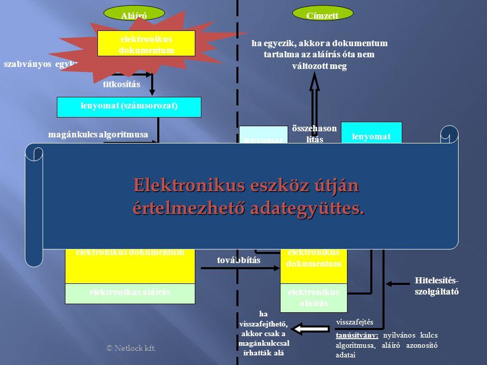 Elektronikus eszköz útján értelmezhető adategyüttes.