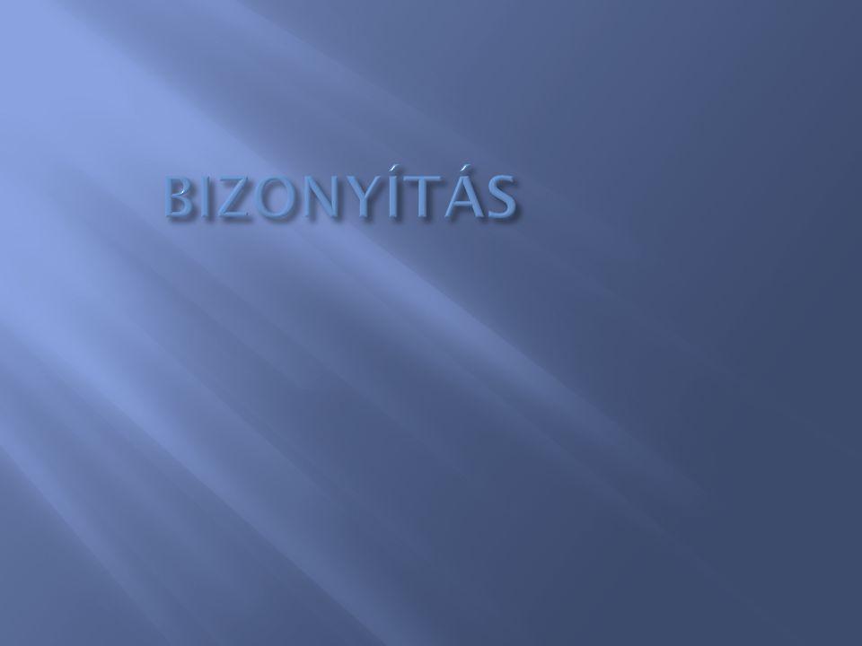 BIZONYÍTÁS