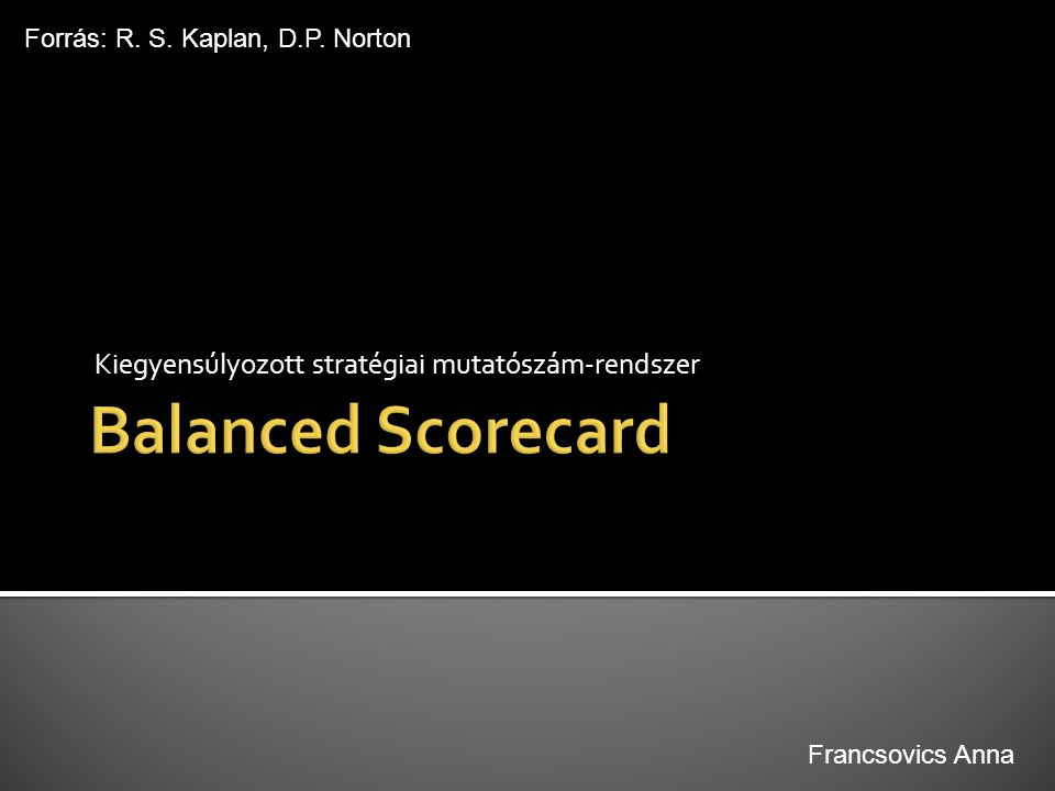 Kiegyensúlyozott stratégiai mutatószám-rendszer