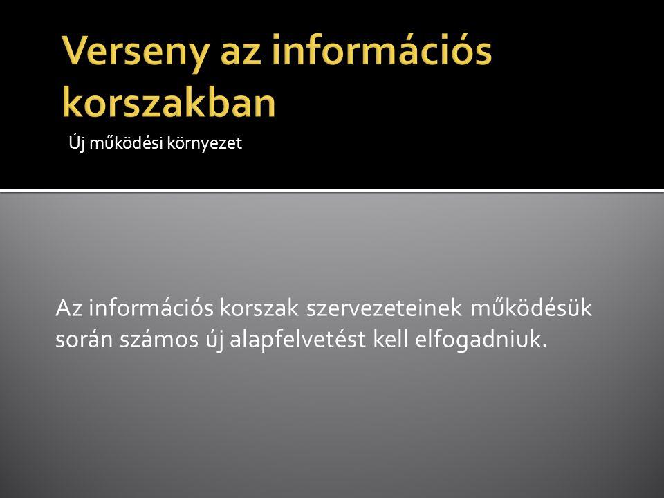 Verseny az információs korszakban