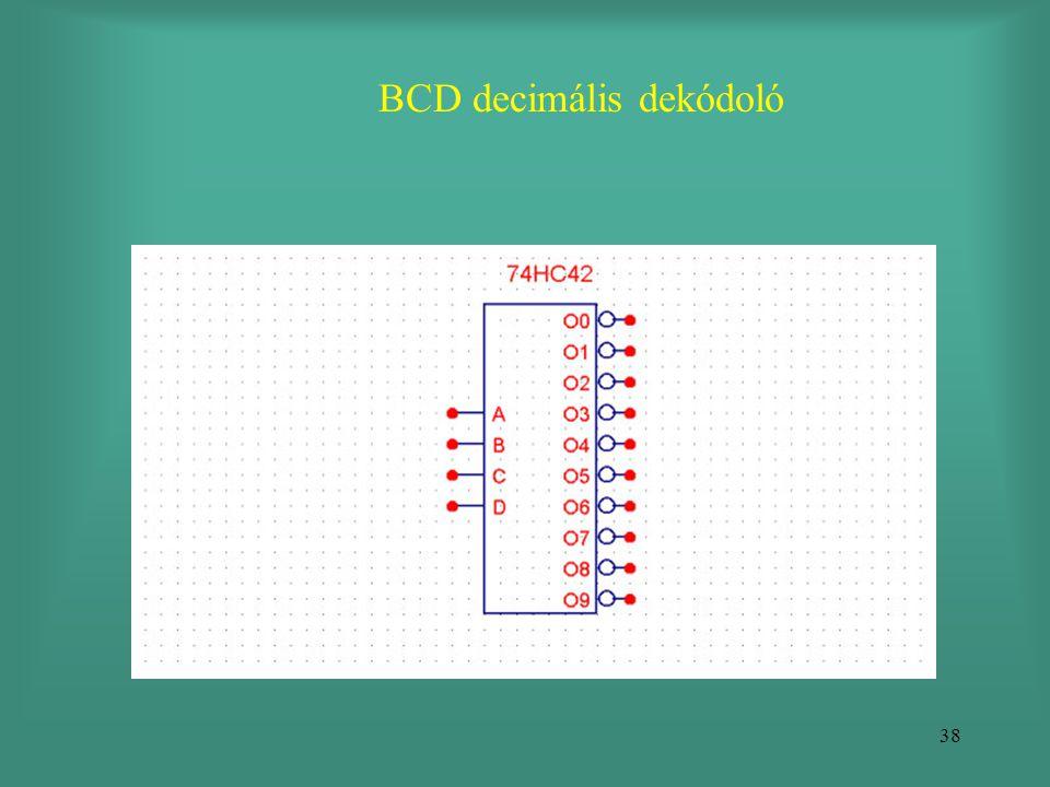 BCD decimális dekódoló