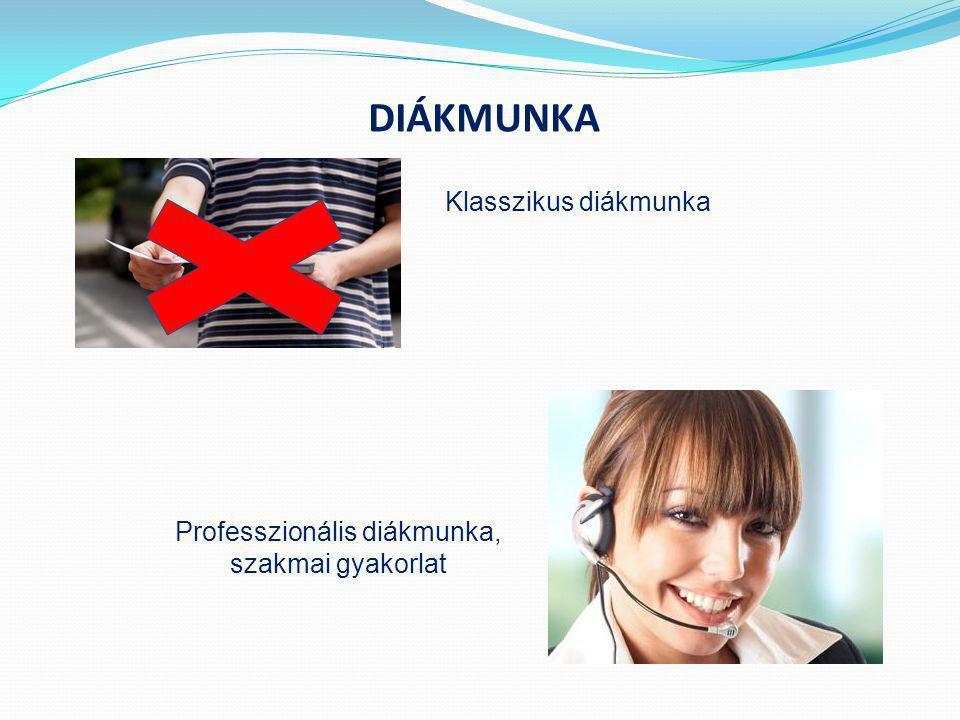 Professzionális diákmunka, szakmai gyakorlat