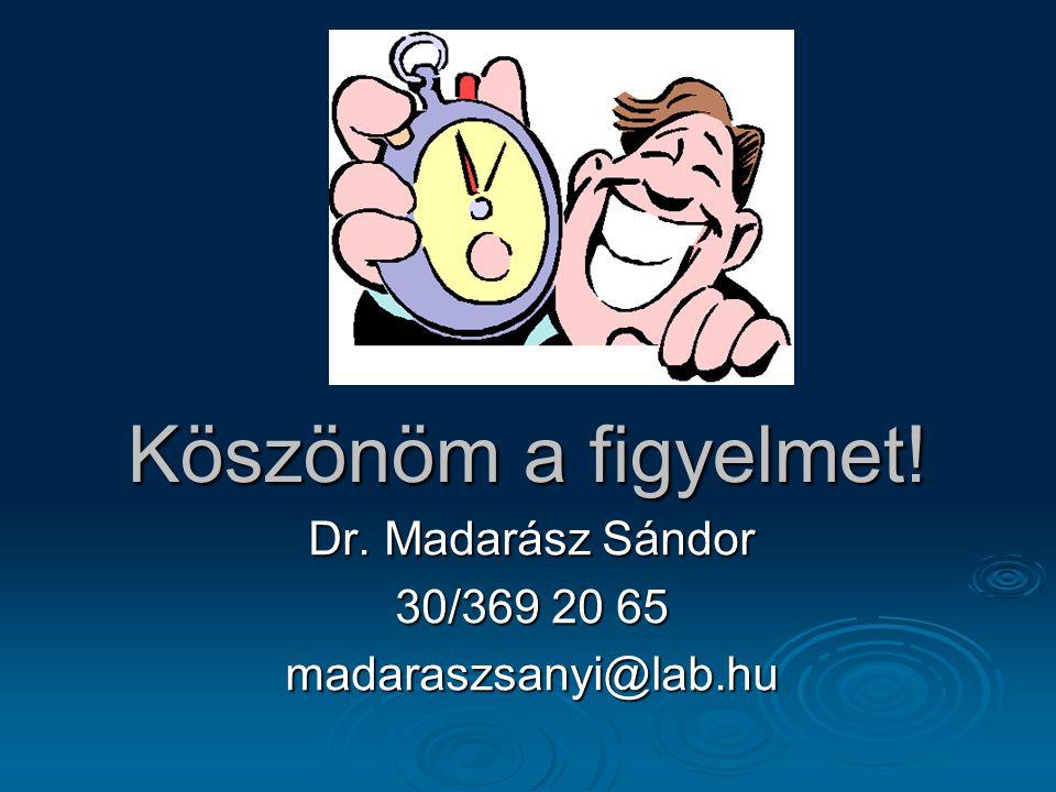 Dr. Madarász Sándor 30/369 20 65 madaraszsanyi@lab.hu
