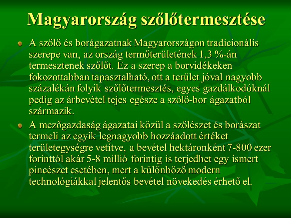 Magyarország szőlőtermesztése
