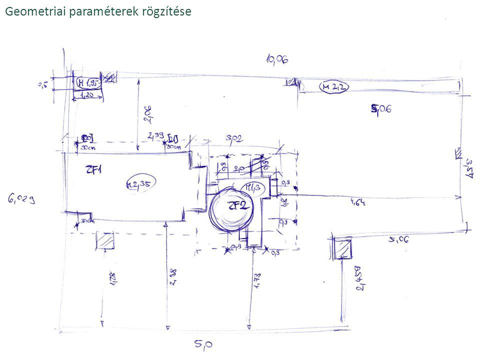Geometriai paraméterek rögzítése