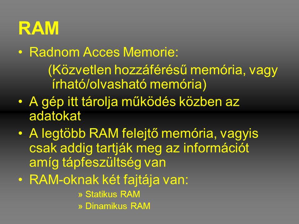 RAM Radnom Acces Memorie: