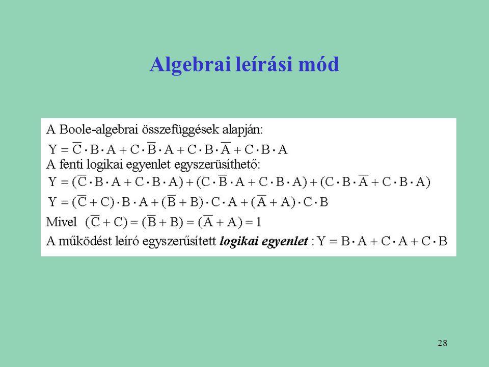 Algebrai leírási mód