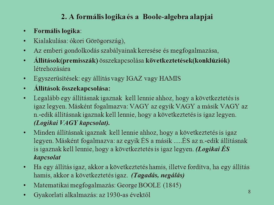 2. A formális logika és a Boole-algebra alapjai