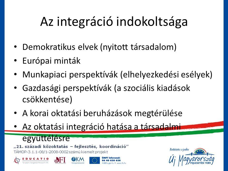 Az integráció indokoltsága