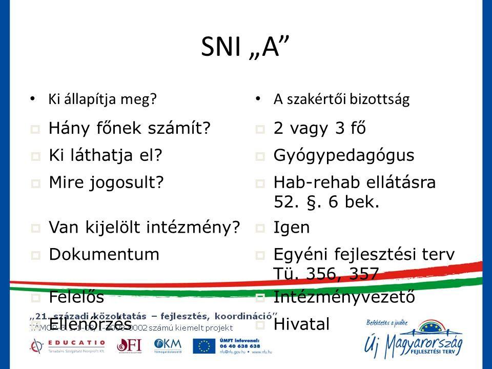 """SNI """"A Ki állapítja meg A szakértői bizottság Hány főnek számít"""