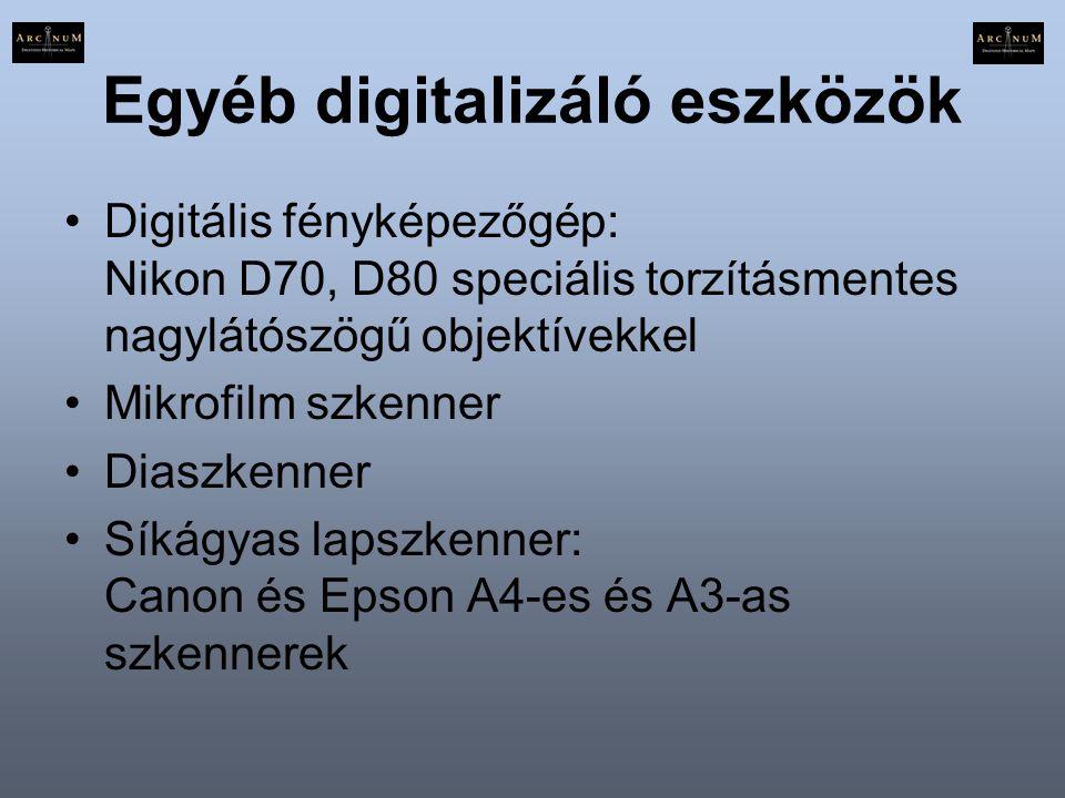 Egyéb digitalizáló eszközök