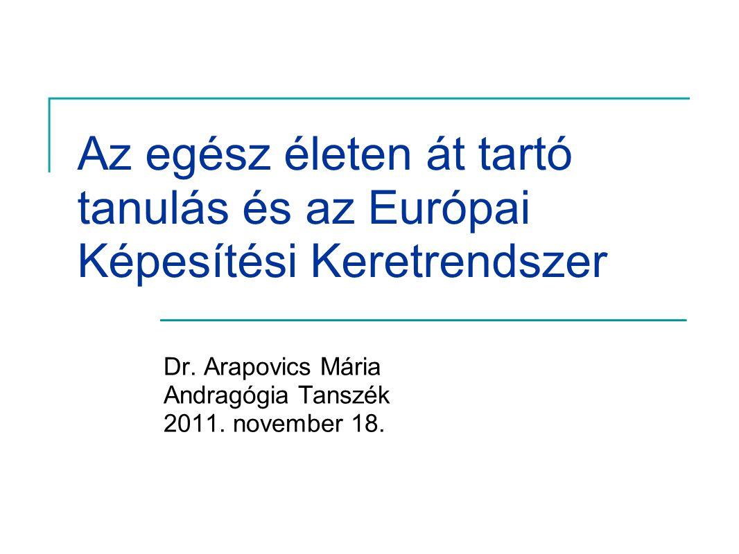 Dr. Arapovics Mária Andragógia Tanszék 2011. november 18.