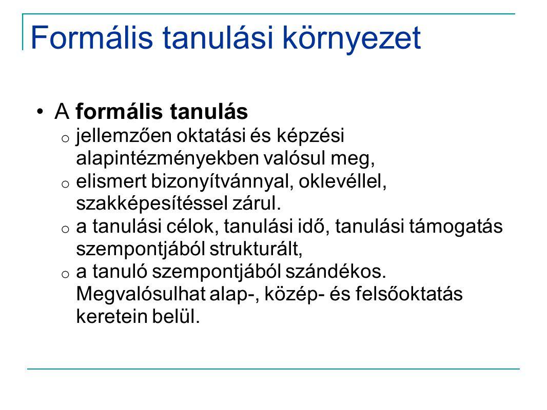 Formális tanulási környezet