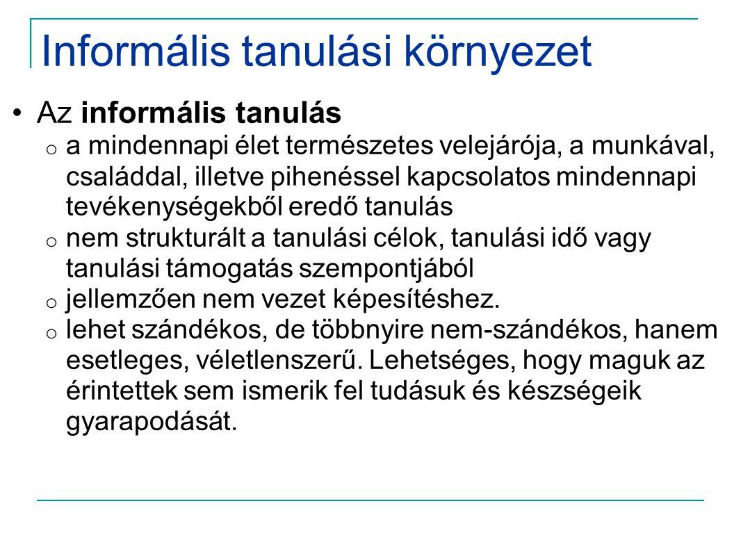 Informális tanulási környezet