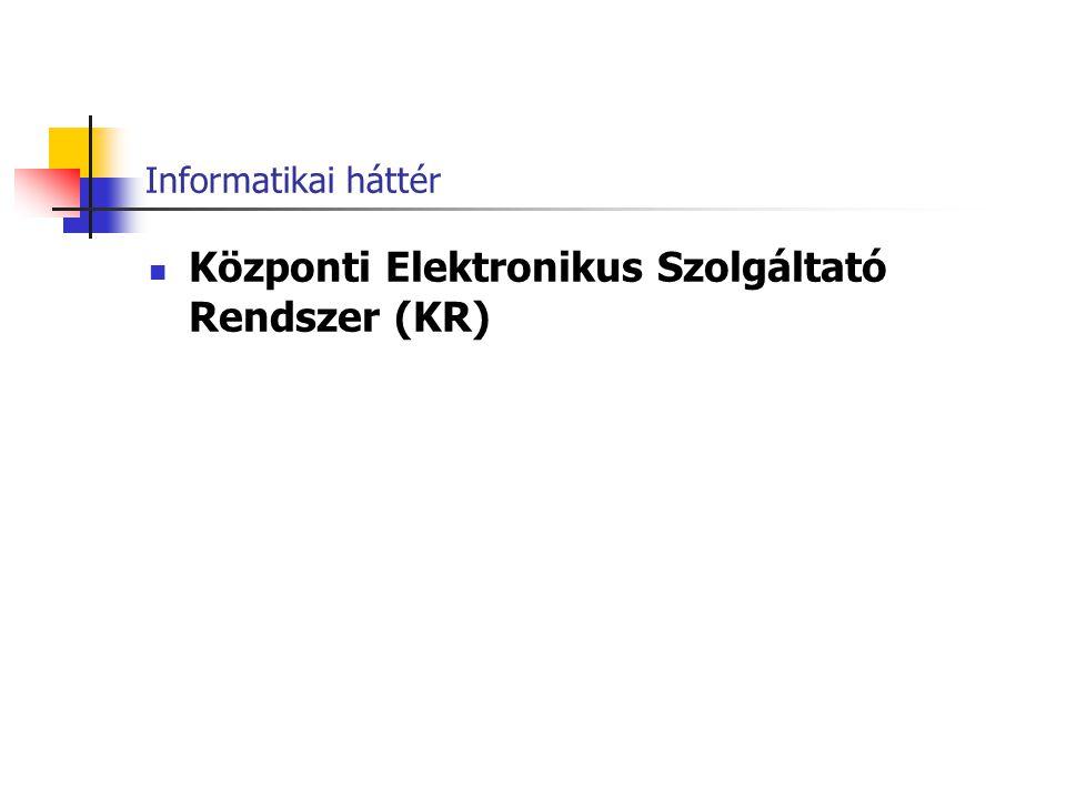 Központi Elektronikus Szolgáltató Rendszer (KR)