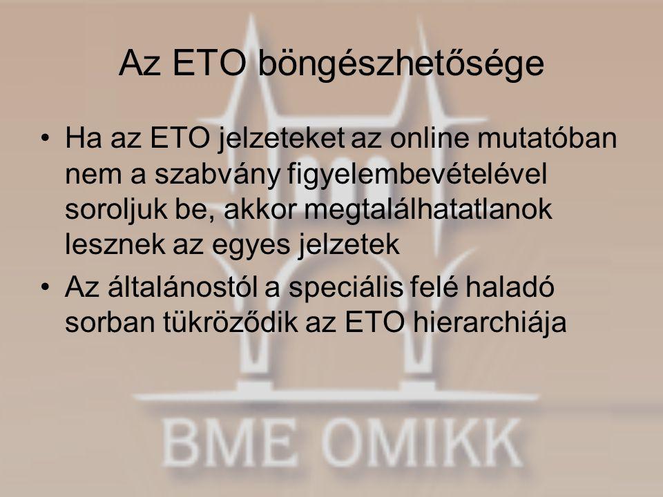 Az ETO böngészhetősége