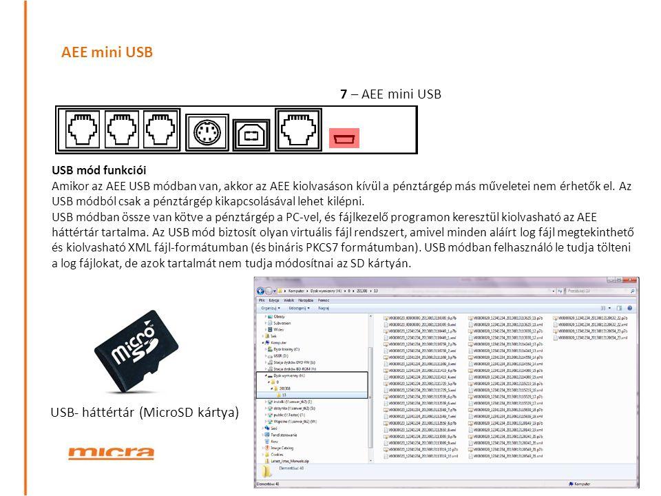 AEE mini USB 7 – AEE mini USB USB- háttértár (MicroSD kártya)