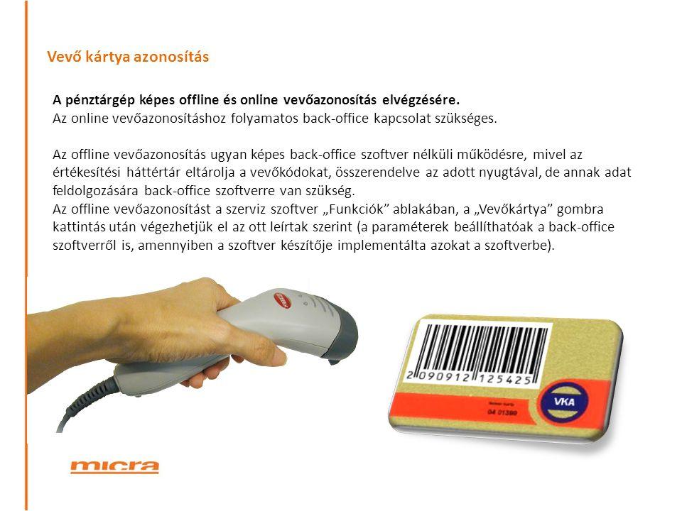 Vevő kártya azonosítás