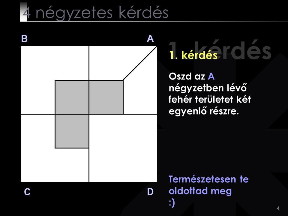 1. kérdés 4 négyzetes kérdés 1. kérdés B A