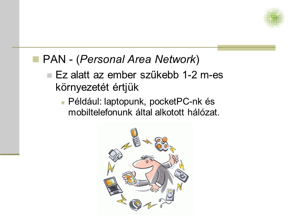 PAN - (Personal Area Network)