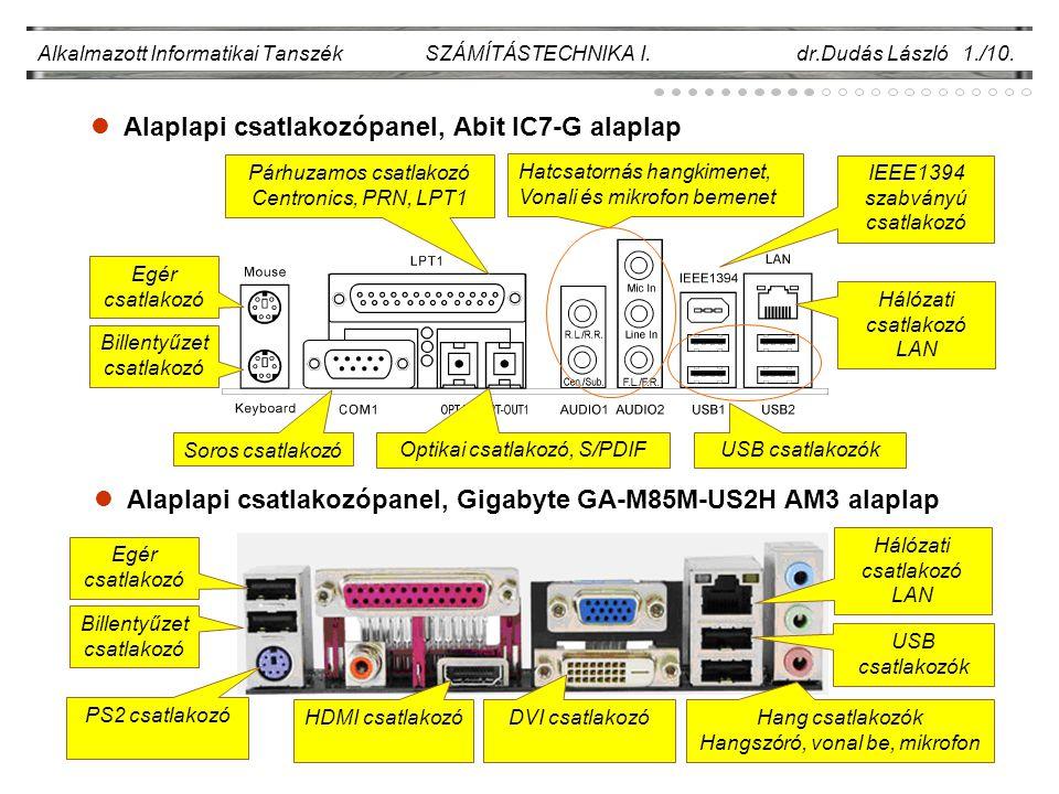 Alaplapi csatlakozópanel, Abit IC7-G alaplap