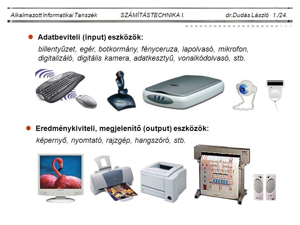 Adatbeviteli (input) eszközök: