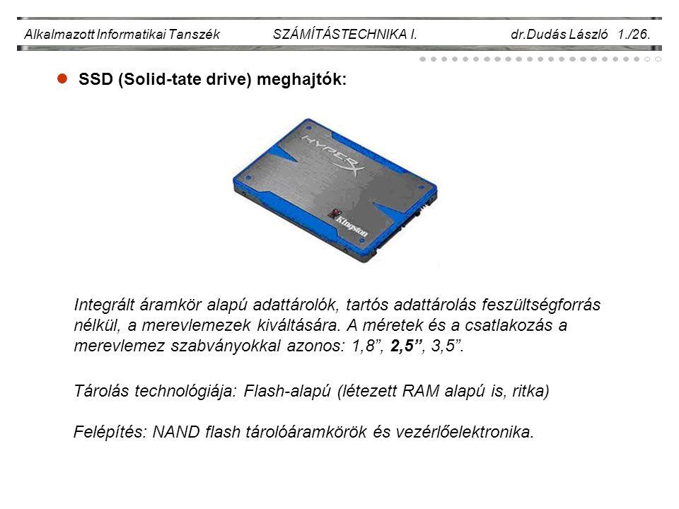 SSD (Solid-tate drive) meghajtók:
