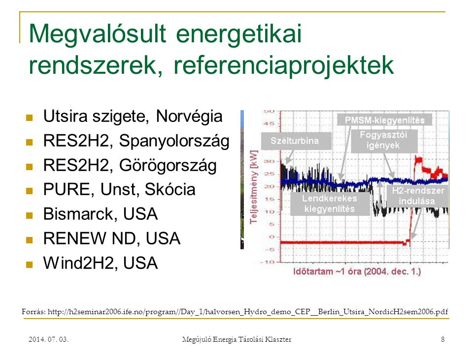 Megvalósult energetikai rendszerek, referenciaprojektek