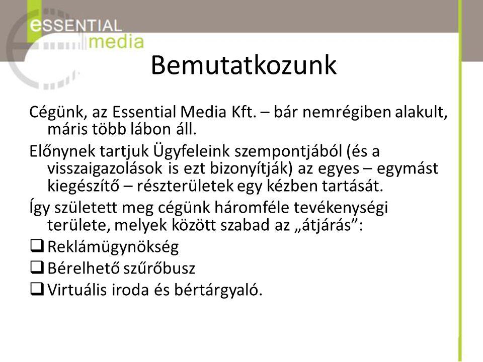 Bemutatkozunk Cégünk, az Essential Media Kft. – bár nemrégiben alakult, máris több lábon áll.