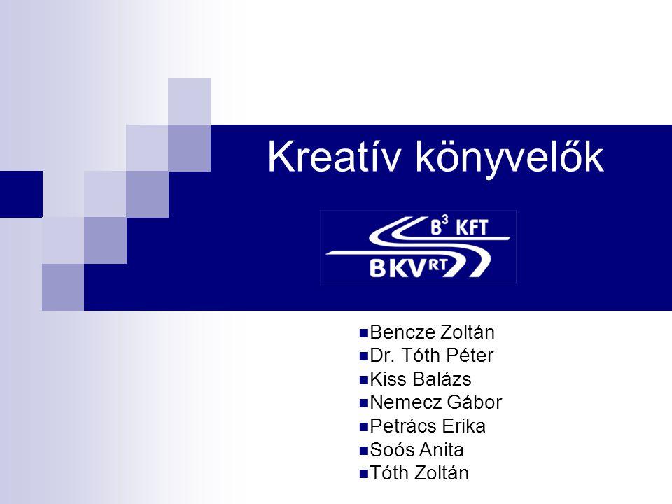 Kreatív könyvelők Bencze Zoltán Dr. Tóth Péter Kiss Balázs