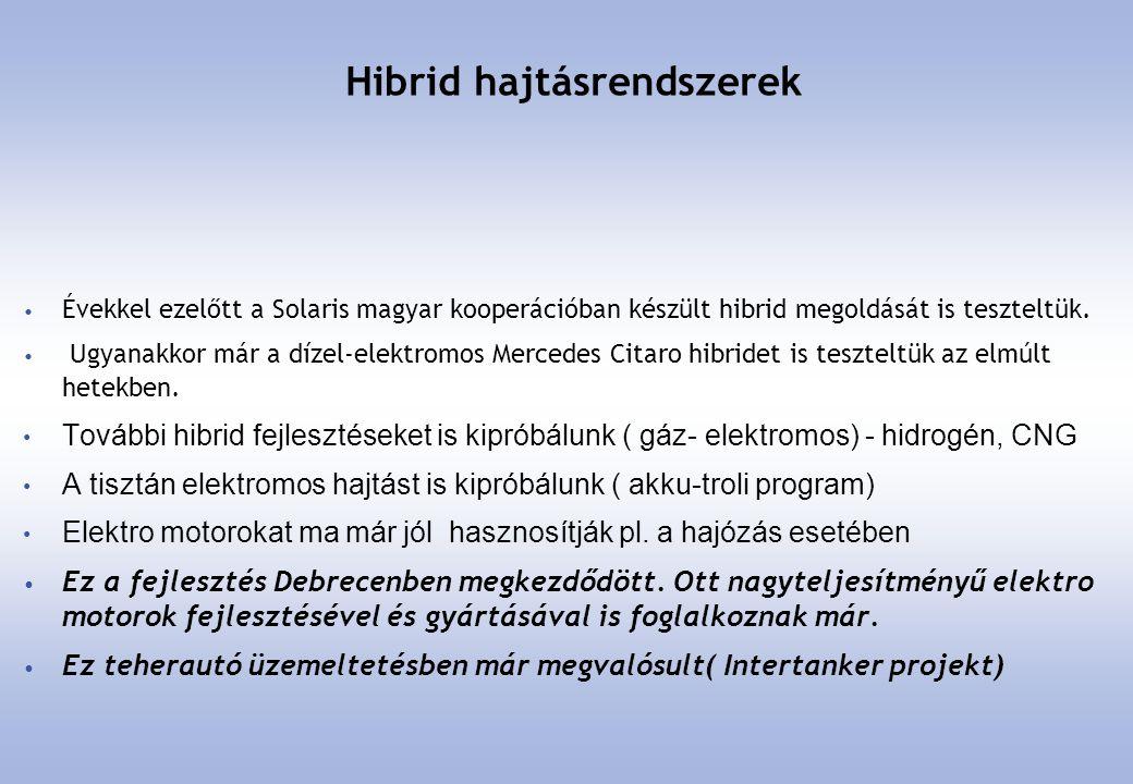 Hibrid hajtásrendszerek