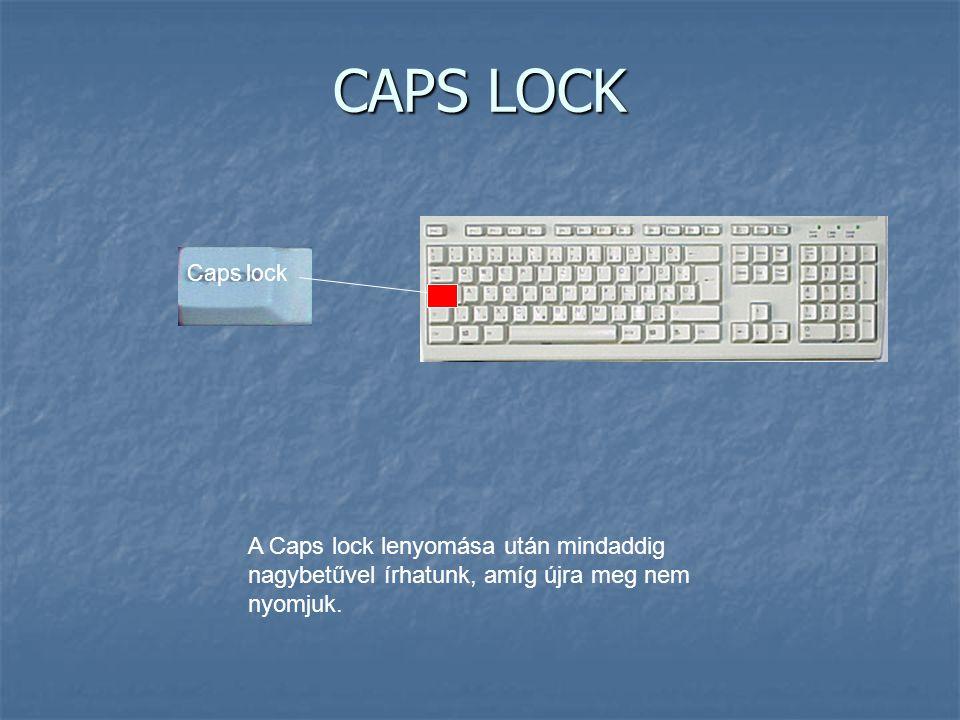 CAPS LOCK Caps lock.
