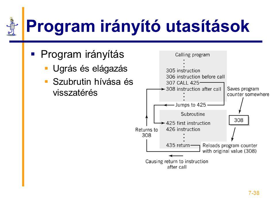 Program irányító utasítások