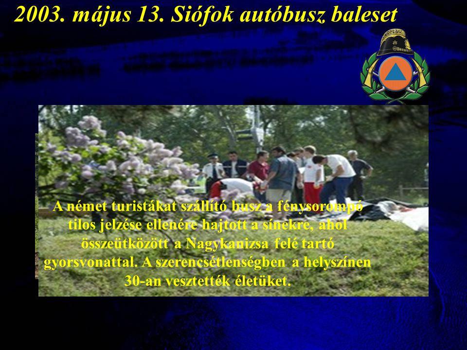 2003. május 13. Siófok autóbusz baleset