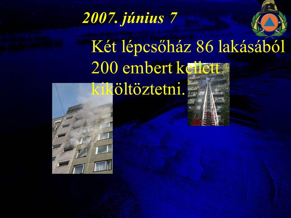 Két lépcsőház 86 lakásából 200 embert kellett kiköltöztetni.