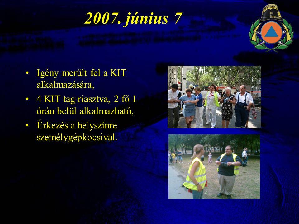2007. június 7 Igény merült fel a KIT alkalmazására,
