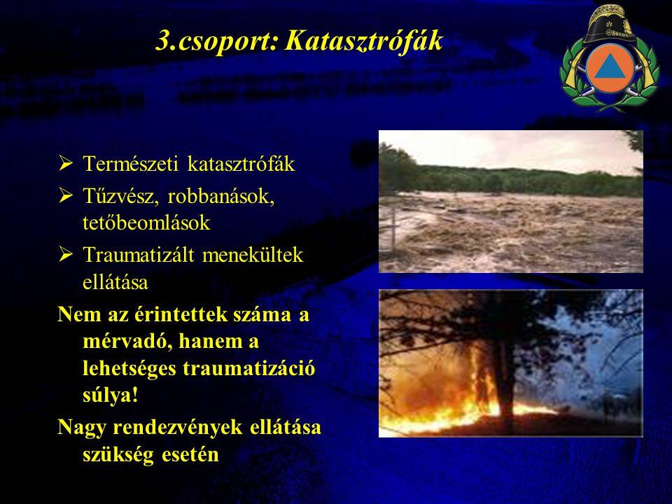 3.csoport: Katasztrófák