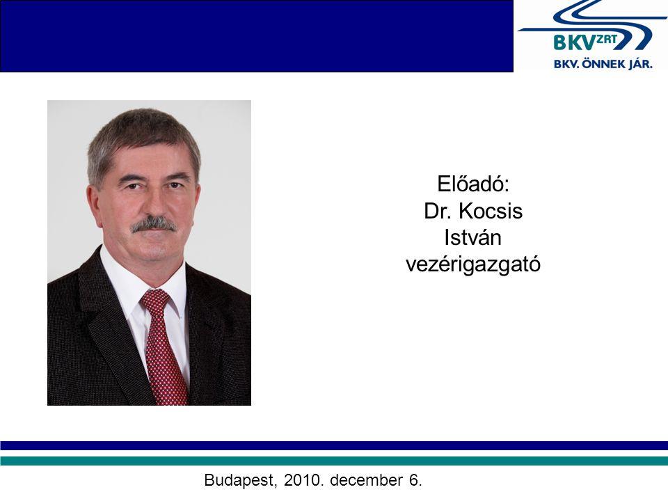 Dr. Kocsis István vezérigazgató