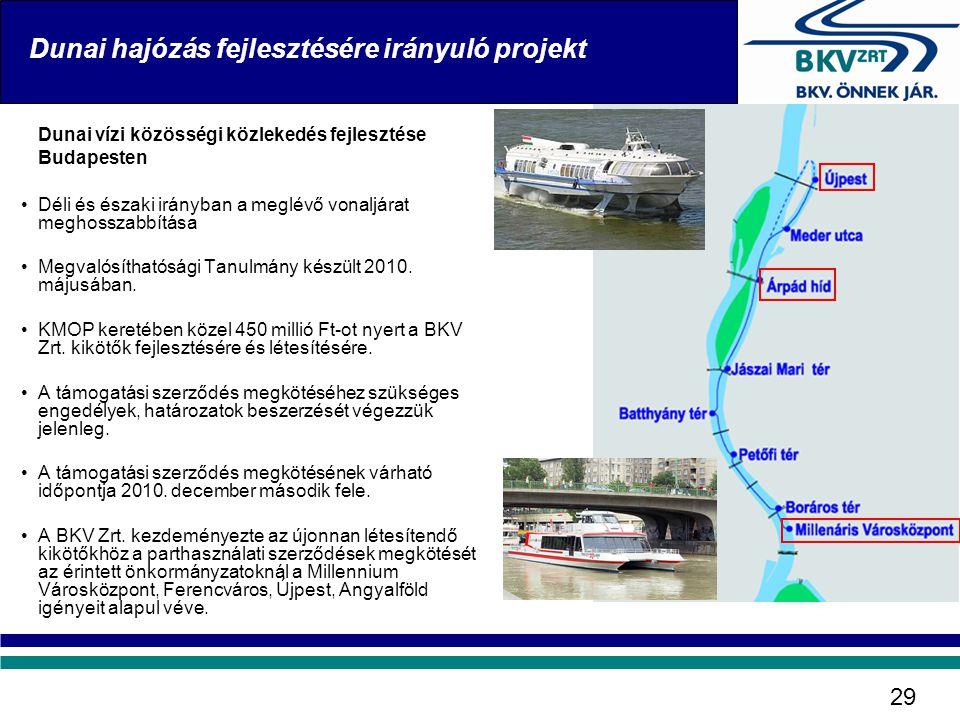 Dunai hajózás fejlesztésére irányuló projekt