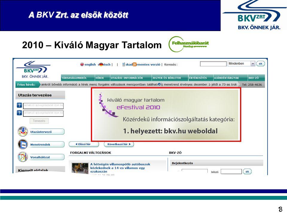 2010 – Kiváló Magyar Tartalom