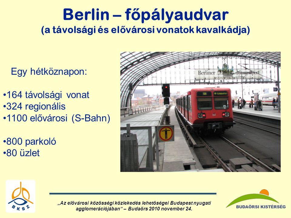 Berlin – főpályaudvar (a távolsági és elővárosi vonatok kavalkádja)