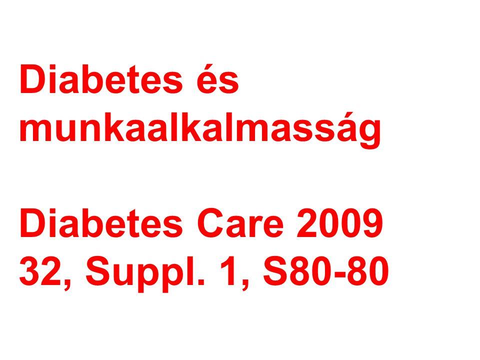 Diabetes és munkaalkalmasság