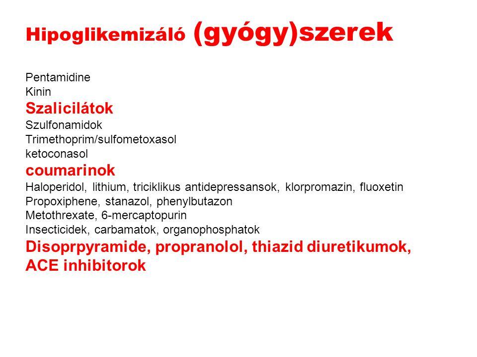 Hipoglikemizáló (gyógy)szerek
